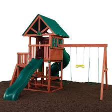 Playground Flooring Lowes by Shop Swing N Slide Southampton Complete Ready To Assemble Kit Wood