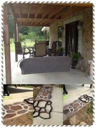 Concrete Garden Furniture Molds by No Mess Stone Patio Floor Use A Concrete Mold And Spray Paint To