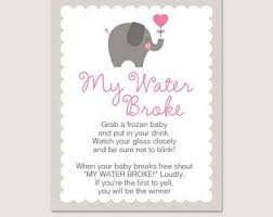my water baby shower pink and gold glitter baby shower my water sign