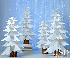 white paper trees photography backdrop photo props