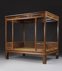 a fine and rare huanghuali six post canopy bed jiazichuang ming