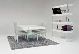 Dining Table With Grey Chairs Simple White Glass Dining Table With Four Grey Furniture Dining