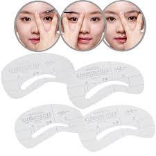 Shaping Eyebrows At Home Amazon Com Reusable Professional Set Of Eye Brows Eyebrows