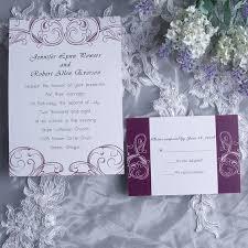 Damask Wedding Invitations Simple Plum Damask Wedding Invitations Ewi230 As Low As 0 94