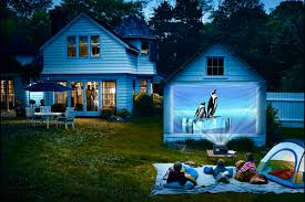 projectors used outdoors for entertainment and profit www tv