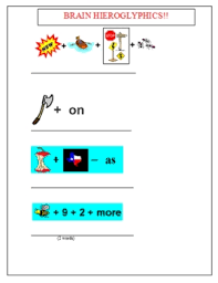 brain hieroglyphics game worksheet and key by science guys tpt