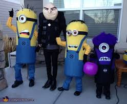 Despicable Family Halloween Costumes Gru Crew Despicable 2 Family Costume