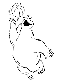 cookie monster coloring pages take a bath coloringstar