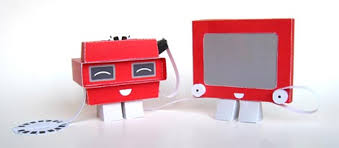 etch a sketch and viewmaster papercraft toys give paper