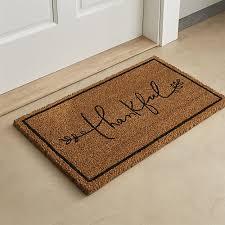 thanksgiving doormat shop thankful coir doormat designer ventura s graceful script