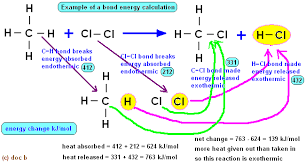 bond enthalpy energy calculations for chemical reactions