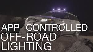 app controlled car lights type s app controlled off road lights youtube