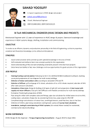 resume format for project engineer hvac project engineer resume format virtren com resume mechanical engineer hvac