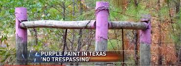 purple paint u0027 trespass warning