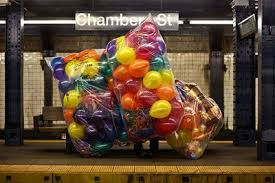 balloons delivered nyc balloons on the subway balloon obsession