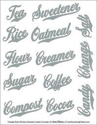 labels for kitchen canisters 78 best kitchen pantry labels images on pantry