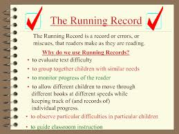 running records mrs judy araujo reading specialist