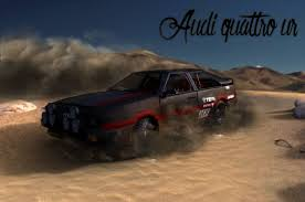 audi rally 3d model audi quattro 80s rally car cgtrader