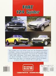fiat 124 spider performance portfolio 1966 1985 r m clarke