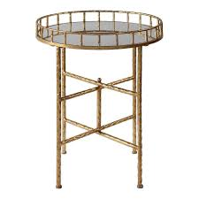 uttermost accent tables round gold accent tray table