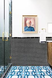 Blue And Black Bathroom Ideas by Trend Alert Penny Round Tiles Quirky Bathroom Mosaics And Rounding