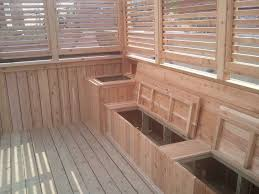 Wood Bench With Storage Plans by Bedroom Impressive Deck Bench With Storage Benches Slammed And