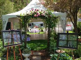 backyard tent weddings laura williams