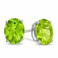 peridot stud earrings oval peridot stud earrings in sterling silver online exclusives