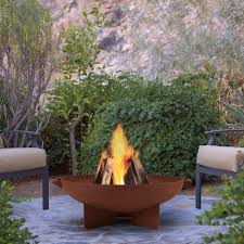 Sunjoy Amherst Fireplace by Wood Fire Pits Outdoor Heating The Home Depot