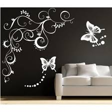 fashionable design ideas sticker wall plus large butterfly