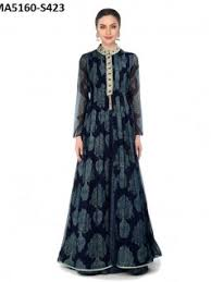 buy online ladies party wear long embroidery gowns for party in