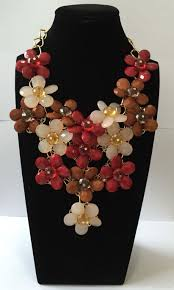 large red beaded necklace images New large flower acrylic faceted beads statement necklace and jpg