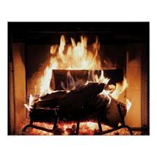 fireplace poster zazzle