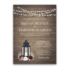 lantern wedding invitations rustic metal lantern wedding invitations burgundy floral