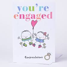 happy engagement card engagement card you re engaged only 89p