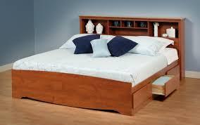 Shelf Bed Frame Bed Frame With Shelf Headboard Shelves