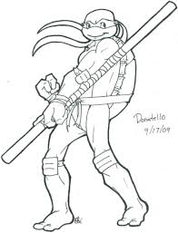 donatello ninja turtle coloring pages