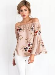 printed blouse s the shoulder flare sleeve floral printed blouse