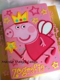 peppa pig template for birthday cake cakes pinterest