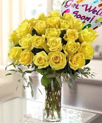 get well soon flowers yellow roses with get well soon mylar balloon pink roses for get