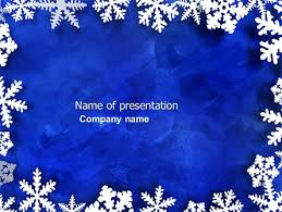 winter themed powerpoint template christmas powerpoint templates