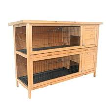 Stackable Rabbit Hutches Pawhut 2 Story Stacked Wooden Outdoor Bunny Rabbit Hutch Guinea