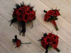 wedding flowers ebay bridal bouquet with black feathers by myfavorsandflowers