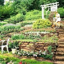 Sloped Garden Design Ideas Steep Terraced Garden Garden Landscaping Ideas For Sloping Gardens