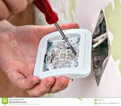 repair of home wiring installing a new light switch close up