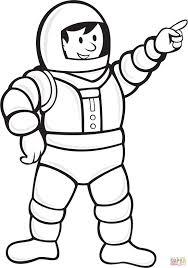 coloriage astronaute portant la combinaison spatiale