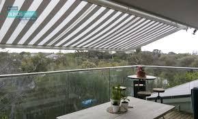 turnils folding arm awning perfect balcony shade solution