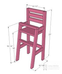 Free And Easy Diy Project And Furniture Plans by Ana White Build A Doll High Chair Free And Easy Diy Project