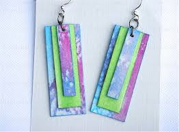 cardboard earrings how to make paper jewelry earrings nbeads