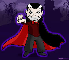 Easy Halloween Pictures To Draw Vampire How To Draw A Cartoon Vampire Draw Pinterest